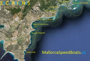 percorso Mallorca speed boats