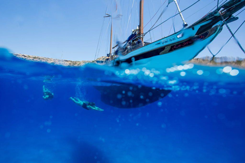 Barca a vela privata