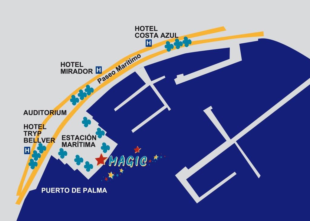 Palma Maiorca, partenza dal catamarano